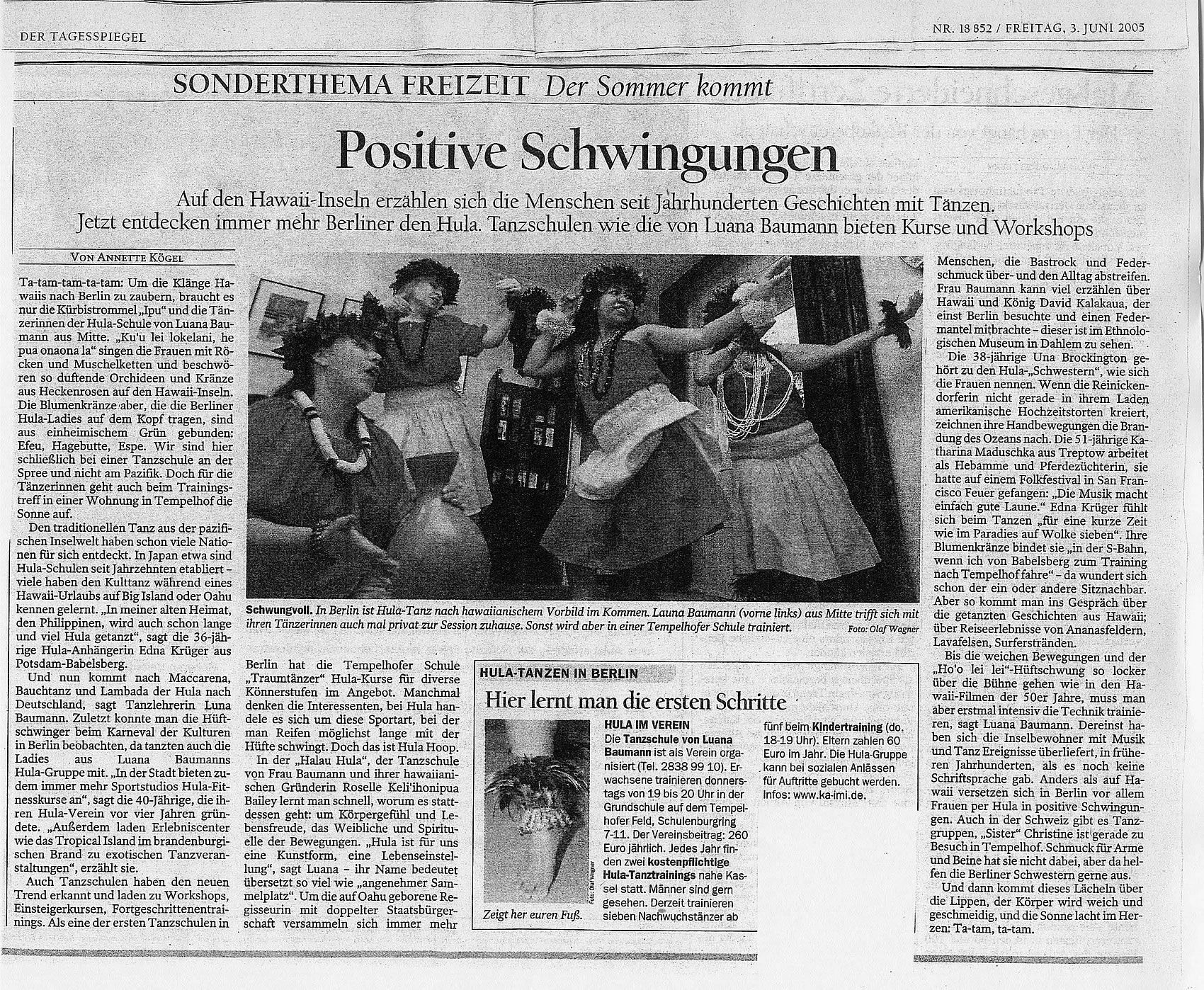 An article in the Berlin newspaper